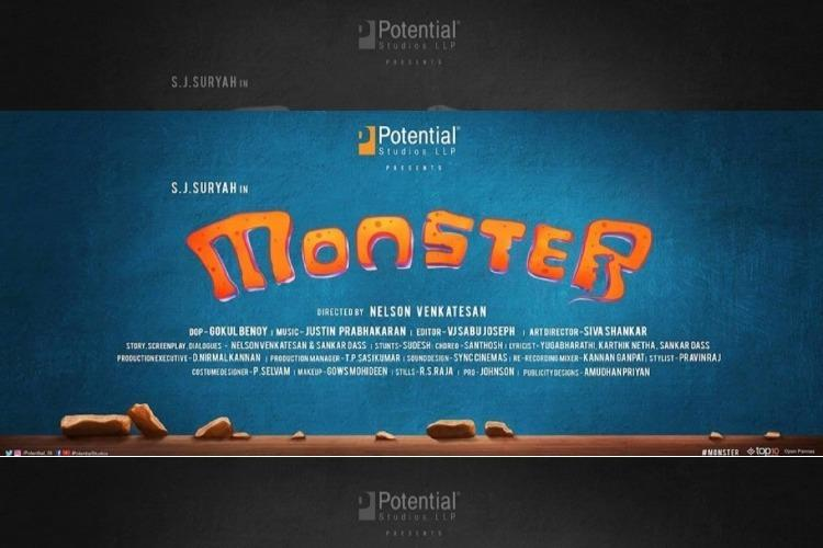 SJ Suryahs new film with director Nelson Venkatesan is titled Monster