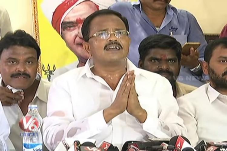 Mothukupally continues tirade against CM Chandrababu calls him anti-Dalit again