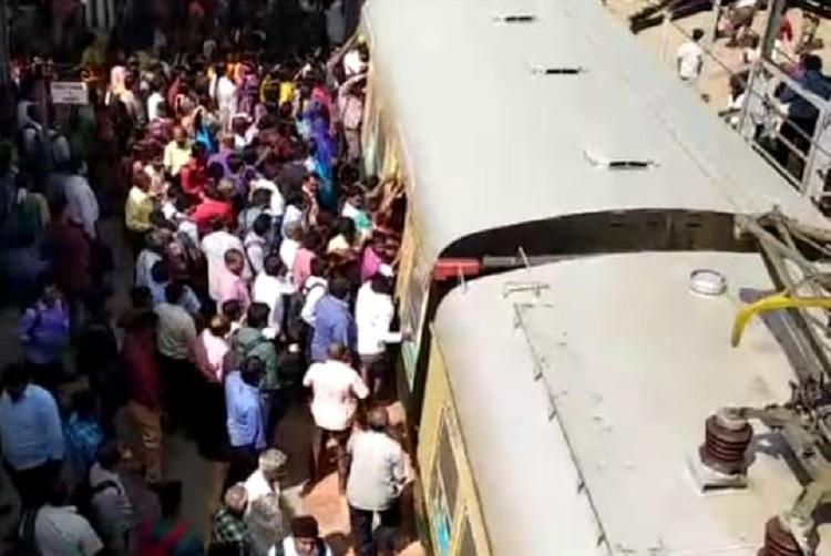 Four dead many critical after falling off crowded local train in Chennai