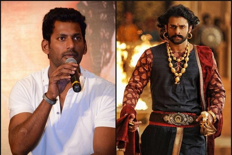 As Baahubali 2 becomes available for free download Vishal files police complaint