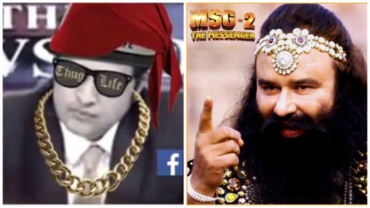 Best video mash-up youll watch today Arnab Goswami slamming Baba Ram Rahim