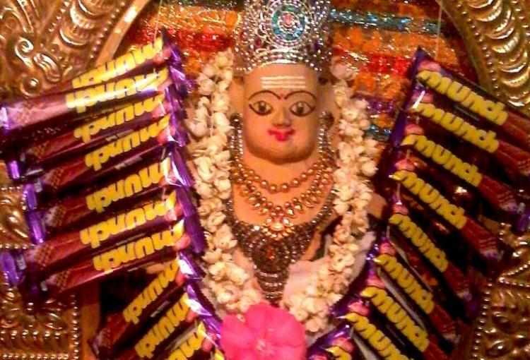 Munch Murugan a 300-year-old god who developed a taste for chocolates 6 years ago
