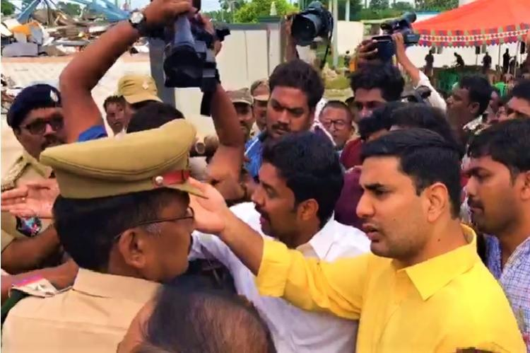 Chandrababu Naidu and Nara Lokesh placed under house arrest amid protests in Andhra