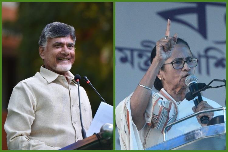CBI saga in Kolkata is BJPs attempt to stop Mamata from winning says Chandrababu Naidu