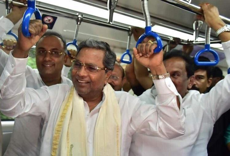 Karnataka CM takes ride on new Metro line in Bengaluru