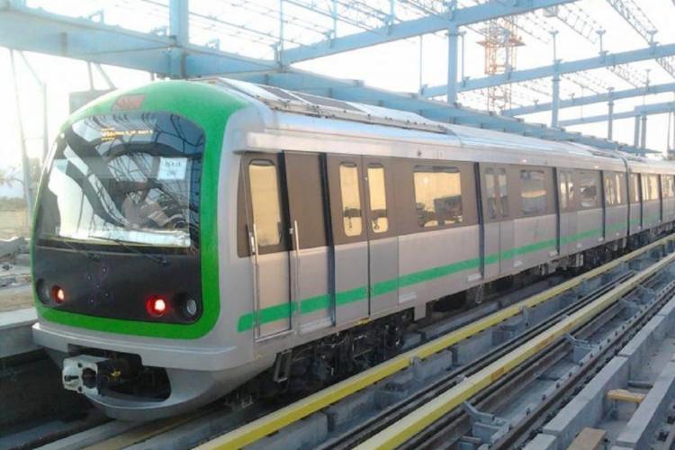 File Photo of Namma Metros Green Line car