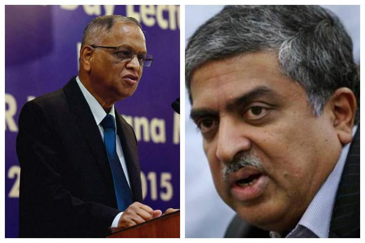 Narayana Murthy backs Nilekani to bring back Acche Din at Infosys