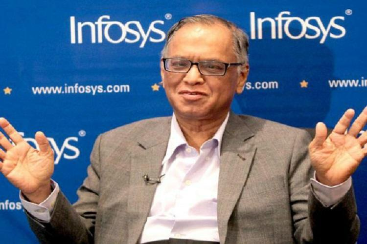Im not used to delays Narayana Murthy cuts short his speech at Amazon event