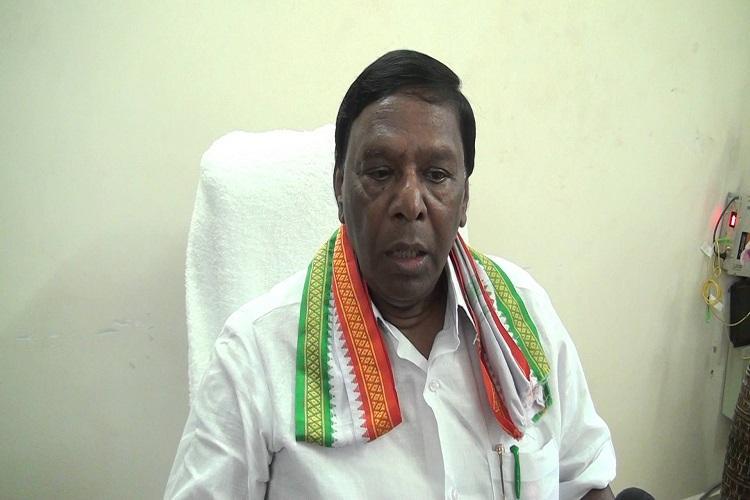 V Narayanasamy announced as the CM of Puducherry