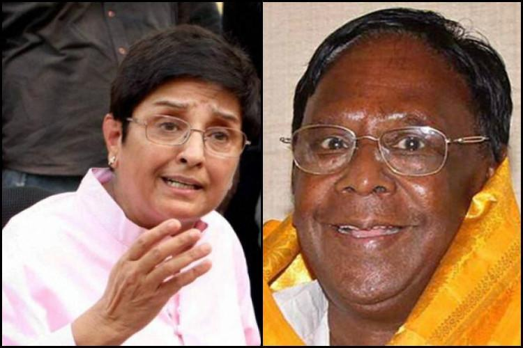 Congress leaders observe fast for Kiran Bedi's ouster
