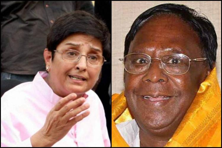 Kiran Bedi is at war with Puducherrys pvt medical colleges but CM Narayanaswamy isnt happy