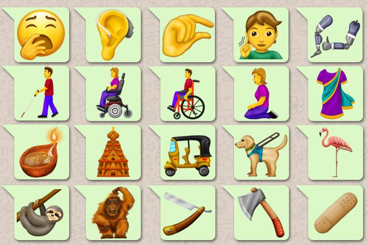 A period emoji and a non sari 203 new emojis to hit phone screens this year