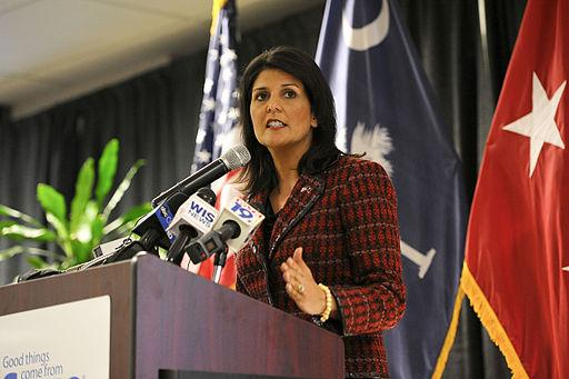 Hard-working law-abiding people should not feel unwelcome in US says Republican Governor Nikki Haley