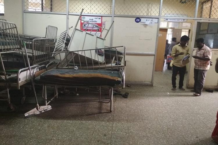 Hyd health files Soiled diapers and urine in corridors greet one at Niloufer Hospital
