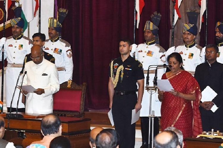 Nirmala Sitharaman new Defence Minister Piyush gets Railways