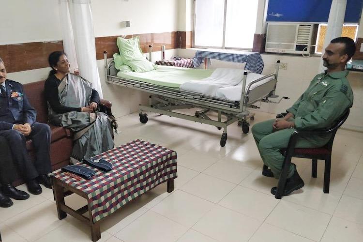 Defence Minister Nirmala Sitharaman visits Wing Commander Abhinandan at hospital