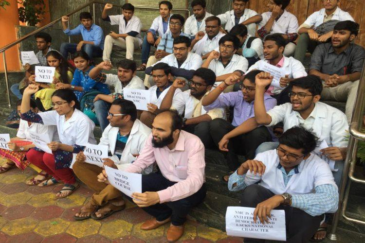 Junior doctors in Telangana continue protests against National Medical Commission Bill