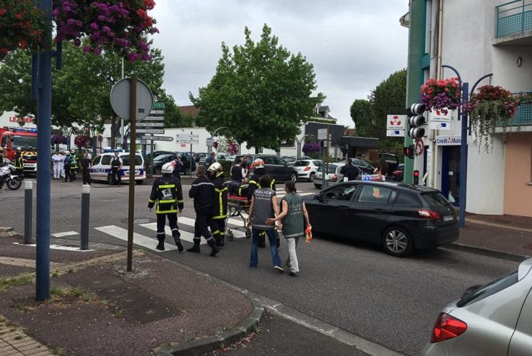At least one dead in French church hostage taking