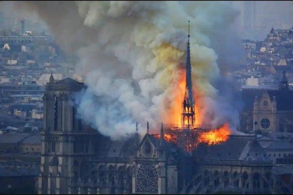 850-year-old Notre Dame Cathedral in Paris partially gutted in massive fire