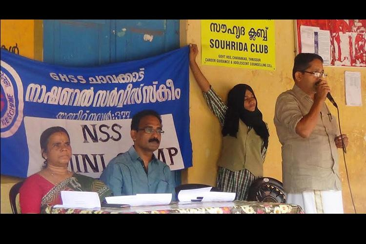 Thrissur school accused of cruelty makes students hold up programme banner