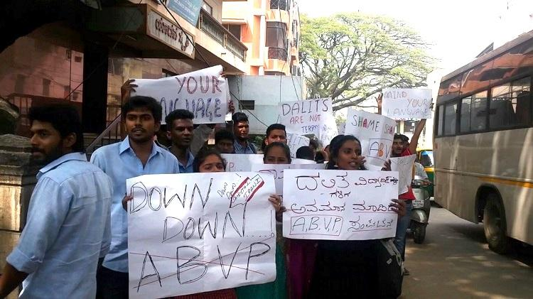 Protest against ABVP leaders remarks on Rohith Vemula turns violent NSUI members booked