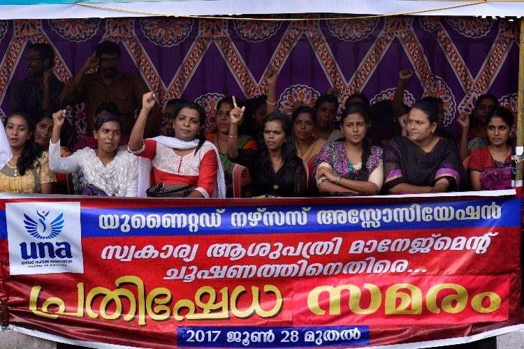 Thousands of private hospital nurses are on an indefinite strike in Kerala Heres why