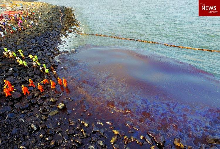 Dont blame us we did all we can says Kamarajar Port on Chennai oil spill