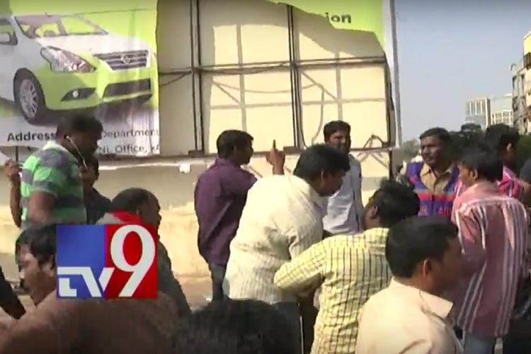 Frustrated due to lack of customers Ola drivers vandalise company office in Hyderabad