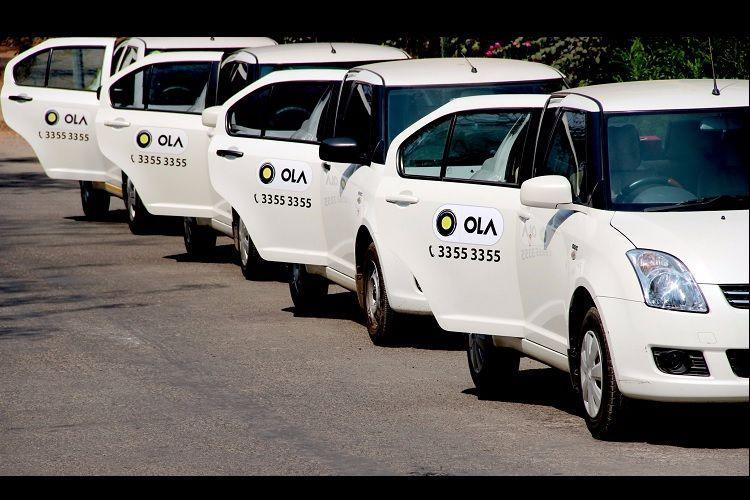 Ola cabs lined up