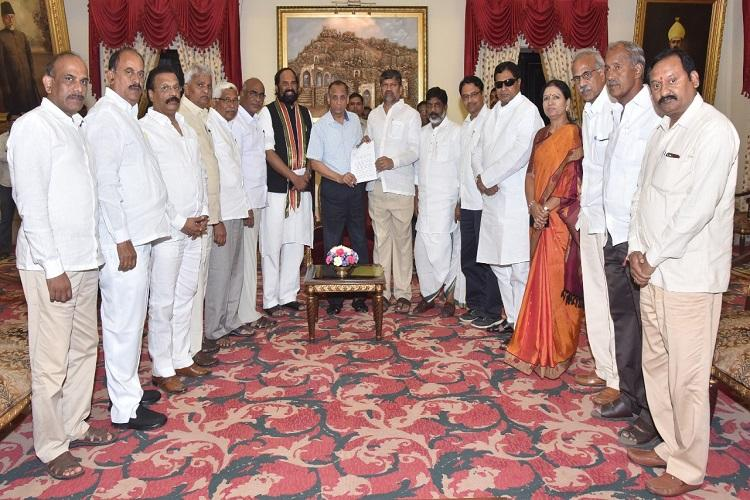 Telangana opposition parties unite to take on TRS demand Presidents rule in state