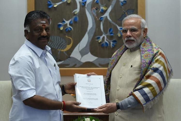 OPS meets PM on Jallikattu Modi says issue sub-judice no word on ordinance