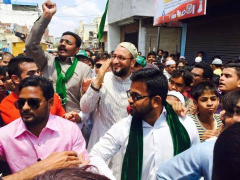 Order Telangana govt to arrest Owaisi brothers Oppostion leaders tell Governor