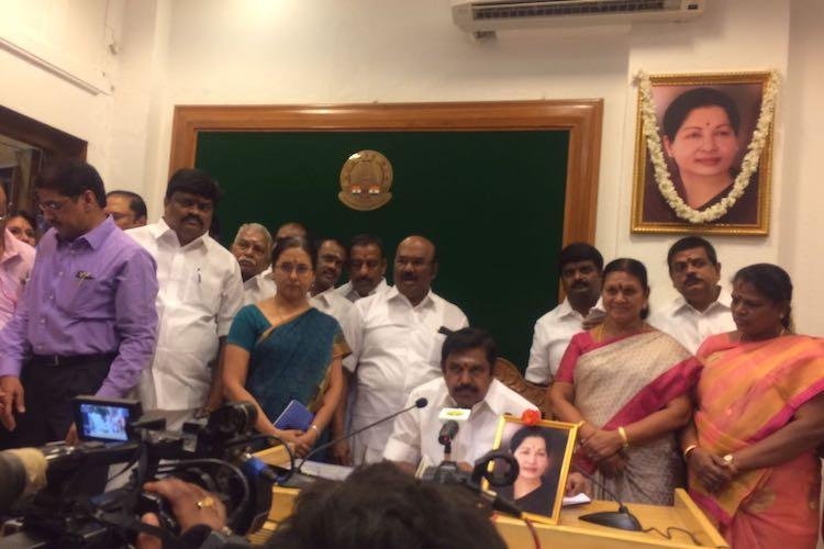 As calls for transparency grow louder 10 AIADMK MLAs meet TN CM EPS