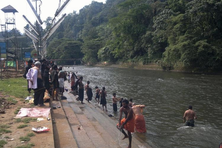 Kerala police cracks down on erring Sabarimala pilgrims arrests 5 for littering Pamba