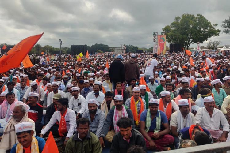 Quota row Panchamasali showcase their strength hold huge rally in Bengaluru