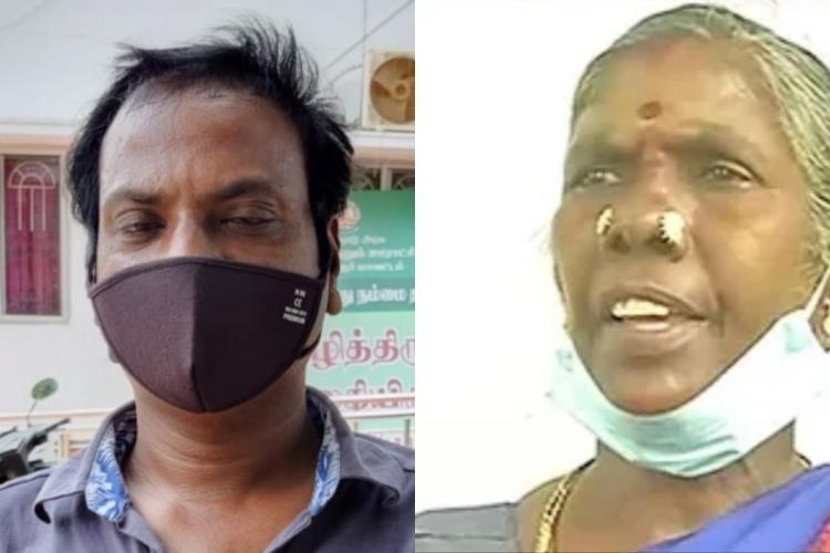 Tamil journalist Ezhil and Panchayat President Amrutham