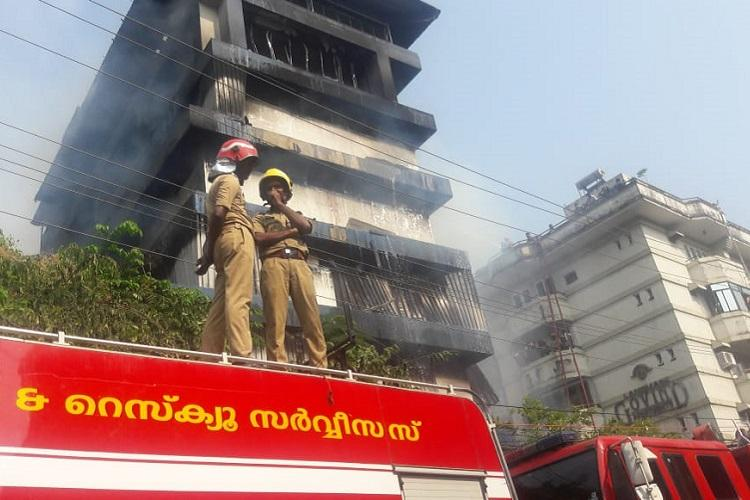 After over 3 hours fire in Paragon footwear godown in Kochi put out