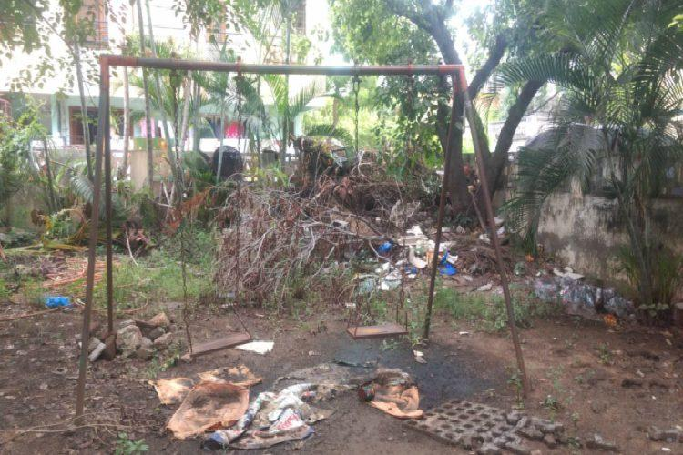 This Vijayawada mini park is in a dilapidated state but officials say that they are not aware