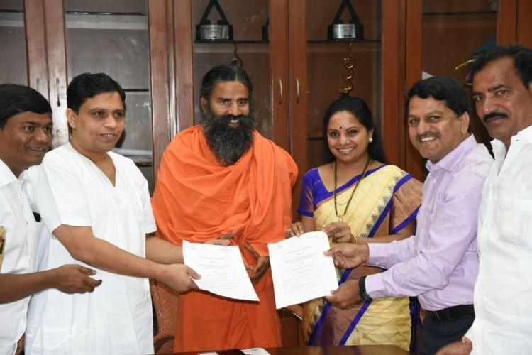 Patanjali Group signs MoU with Telangana government to set up food park in the state