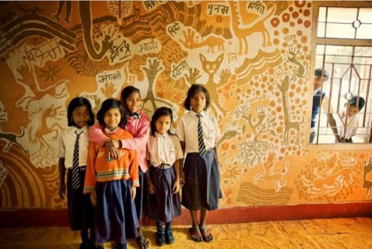 A paint job in this Bihar school means beautiful art on classroom walls
