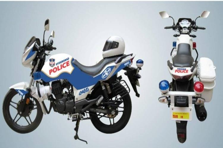 Man steals police patrol bike in Hyderabad joyride ends in 40 minutes