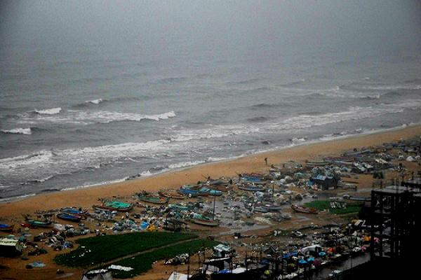 A coastal fishing community near Mylapore is bearing the brunt of unusual high tide