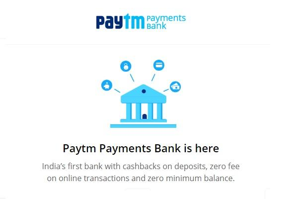 Paytm launches Payments Bank, facilitates cashback on deposits