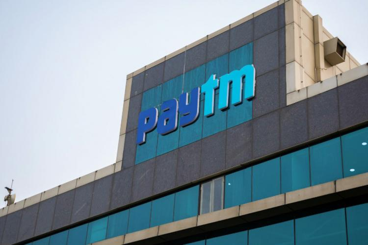 Paytm building with logo