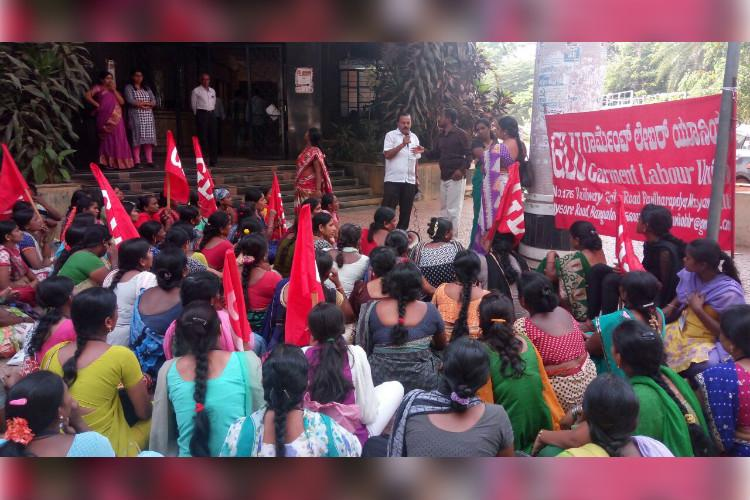 Forced to resign PF not paid Bengaluru garment factory workers fight for their rights