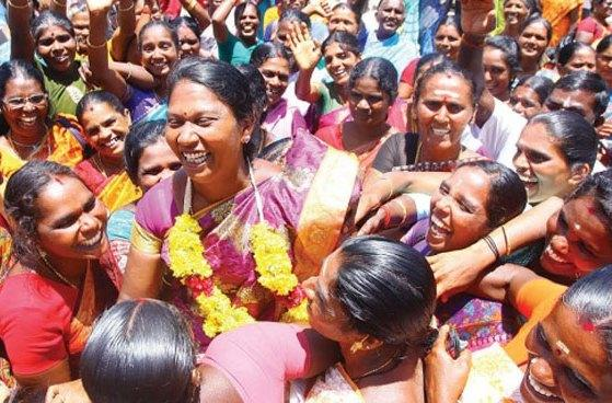 Lefts intolerant thuggery Pembilai Orumais woman leader assaulted after victory