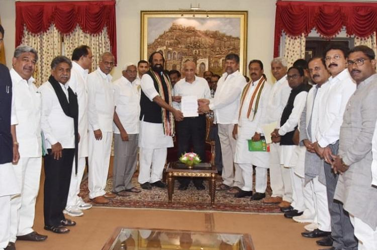 Telangana elections Leaders of Peoples Front meet Guv formalise pre-poll alliance