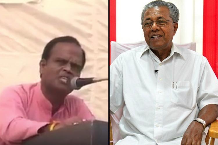 RSS leader puts bounty on CM Pinarayis head gets a taste of Malayali pride on social media