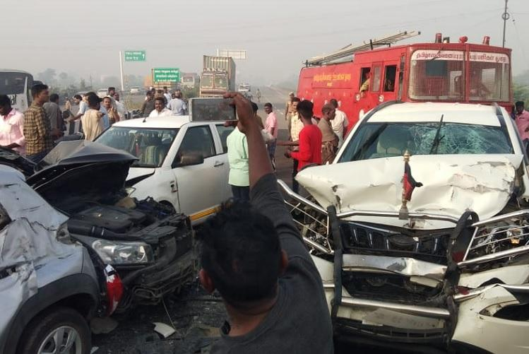 Vellore pile-up Heavy mist causes 10 vehicles to crash into each other on highway