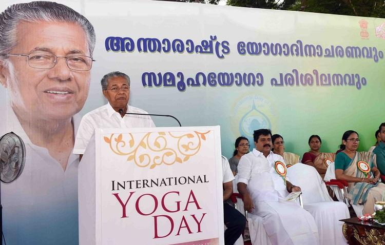 Yoga is a form of exercise and not part of any religion Kerala CM on International Yoga Day